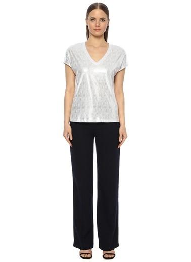 NetWork Kadın 1073509 Regular Fit Kırışık Dokulu T-shirt Beyaz